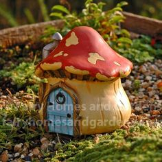 Fairy Homes and Gardens - Miniature Fairytale Mushroom House, $13.99 (http://www.fairyhomesandgardens.com/miniature-fairytale-mushroom-house/)