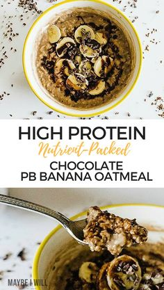 This High Protein Oatmeal is packed with nutrients and deliciousness to help energize and power your day!  via @andiethueson