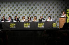 The Impact Of Ron Moore's Battlestar Galactica, 10 Years Later. Cast members Michael Trucco (Anders), Aaron Douglas (Chief Galen Tyrol), Tahmoh Penikett (Lt. Karl 'Helo' Agathon), Grace Park (Boomer/Sharon), Mary McDonnell (Madam President Laura Roslin), and Tricia Helfer (Caprica 6) were on hand, as well as the creative development team of David Eick and Ronald D. Moore. The Thursday panel was hosted by Variety's Mo Ryan,