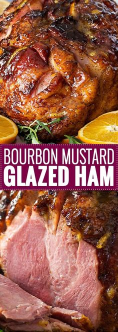 Bourbon Mustard Orange Glazed Ham | Sticky, sweet, tangy, and full of flavor... this bourbon mustard and orange glazed ham is one that you'll be happy to have as the star of your holiday meal! | http://thechunkychef.com