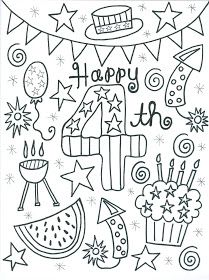 4th Of July Coloring Page Independence Day 4th Of July July