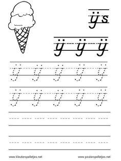 LETTER IJ | letters leren herkennen en schrijven, alfabet printbladen a t/m z