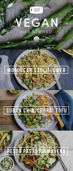 (Re)discover vegan with Green Chef. We send you fresh, organic ingredients & inspired, nourishing recipes. You cook amazing, plant-based dinners — on the table in just 30 minutes. (Ingredients Table Dinners)