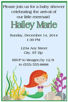 UNDER THE SEA BABY SHOWER INVITATION- TO FOLLOW ME ON FB PLEASE CLICK ON THE PHOTO TWICE