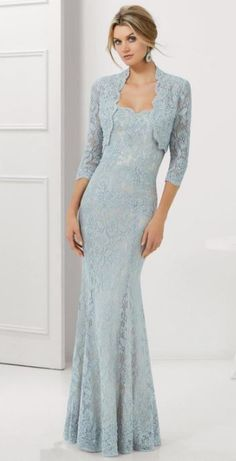 51 Gorgeous Long Lace Mother of the Bride Dresses