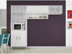 Cozinha Compacta Poliman Móveis Franciele - 8 Portas com as melhores condições você encontra no Magazine Gileo. Confira!