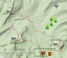 3 Peaks map