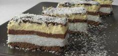 Kókuszhercegnő, a világ legfinomabb süteménye, amit 30 perc alatt elkészíthetsz! Hungarian Desserts, Romanian Desserts, Romanian Food, Hungarian Recipes, Cookie Recipes, Dessert Recipes, Food Cakes, No Bake Cake, Coco