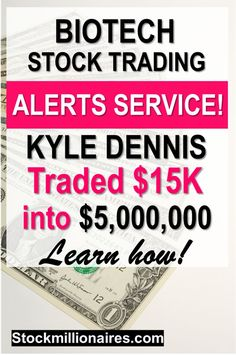 Learn how Kyle was able to trade a small account ($15k) and turn it into multiple millions of dollars by trading volatile biotech stocks! Learn his strategy for free!