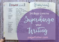 **14 Bullet Journal Lists to Supercharge Your Writing Skills ** Easy lists to improve your personal & professional writing skills to meet your goals.