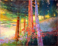 """""Calm Light - Arcadian Original Art by Mark Gould Landscape Artwork, Contemporary Landscape, Contemporary Paintings, Abstract Landscape, Art And Illustration, Southwest Art, Mountain Paintings, Magazine Art, Street Art"