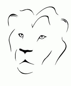 minimalist lion - Google Search