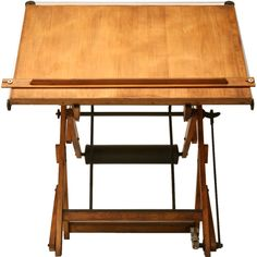 c.1930 Vintage French Architect's Drafting Table | From a unique collection of antique and modern industrial and work tables at http://www.1stdibs.com/furniture/tables/industrial-work-tables/