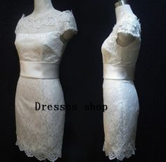 White/ivory Short Lace Prom Dresses Evening Dress by Dressesshop, $129.00 @Shannon Monsell