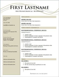 sample free resume get started. simple resume template word 20 free example of format . Free Printable Resume Templates, Resume Design Template, Best Resume Template, Templates Free, Cv Template, Writing Template, Curriculum Vitae Download, Curriculum Vitae Online, Free Resume Maker