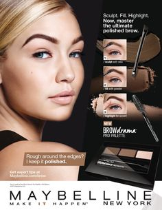 Maybelline Cosmetic Advertising with Gigi