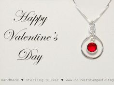 Valentine's Day gift  Silver Infinity necklace by SilverStamped