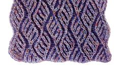 Two-color brioche scarf knitting pattern + free chart