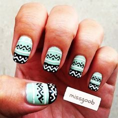 Nail Design Art 2015 Latest Nail Art Fashion for Girls Women Page 4 Tribal Nail Designs, Tribal Nails, Cute Nail Designs, Super Cute Nails, Pretty Nails, How To Do Nails, Fun Nails, Latest Nail Art, Nail Polish Art