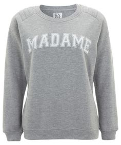 Light Grey Madame Loose Fit Jumper by Zoe Karssen. Shop more jumpers from the Zoe Karssen collection online at Liberty.co.uk.