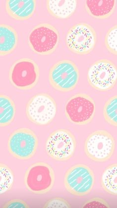 Vintage Flowers Wallpaper, Flower Wallpaper, Cool Wallpaper, Donut Background, Donut Cartoon, Iphone Background Wallpaper, Phone Backgrounds, Donuts, Character Wallpaper