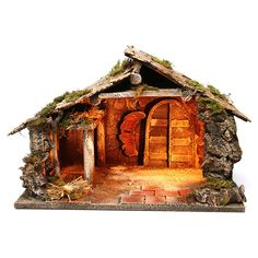 Nativity Stable, Nativity Sets, Little Cottages, Christmas Pictures, Christmas Traditions, Barn Wood, Decoration, Lights, Wallpaper