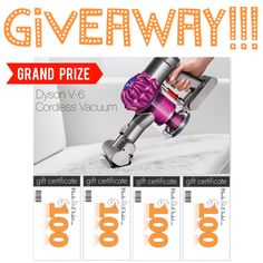 Ends on September 29th 2016. One grand prize winner will receive a Dyson V6 Motor Head Cord-free Vacuum and four additional winners will receive $100 Blinds Chalet gift cards!