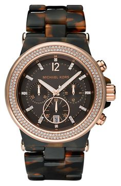 Michael Kors Resin & Crystal Bezel Watch   Nordstrom