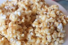 Chewy Caramel Popcorn... for 1/2 recipe, use 3 bags microwave popcorn
