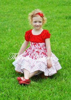 (9) Name: 'Sewing : Allana Ruffled Peasant Dress