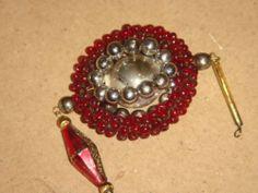 alter Christbaumschmuck Gablonzer Anhänger Weihnachtsschmuck Glas Perlenreifen