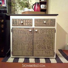 Idées de recyclage de sac à café en toile de jute pour recouvrir et créer vos objets vintage et design!