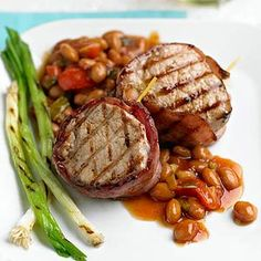 Bacon-Wrapped Pork and Beans From Better Homes and Gardens, ideas and improvement projects for your home and garden plus recipes and entertaining ideas.