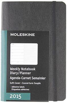Moleskine 2015 Weekly Planner, 12 Month, Pocket, Black, Soft Cover (3.5 x 5.5) (Moleskine Diaries) by Moleskine