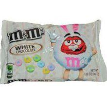 White chocolate M & M's