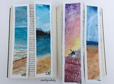 Watercolour bookmarks for sale // @art.by.melody on Instagram