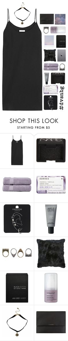 """dvsn round 0.5"" by rattle-the-stars ❤ liked on Polyvore featuring Equipment, NARS Cosmetics, Pure Fiber, Korres, Topshop, MAKE UP FOR EVER, Pull&Bear, Ex Voto Paris, Burberry and dvsnbg"