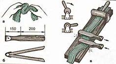 Nettle fibers preparation  - Step 3