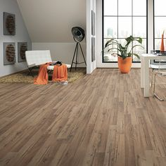 LOGOCLIC Family Laminat Eiche Prizzi (1.285 mm x 192 mm x 7 mm) Bauhaus, Hardwood Floors, Flooring, Tile Floor, Modern, Living Room, Home Decor, Deck Flooring, Living Area