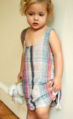 Bohemian Style, baby girl, plaid, summer wear