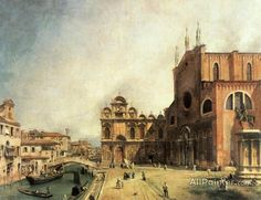 Giovanni Antonio Canal (called Canaletto),Ss. Giovanni E Paulo And The Scuola De San Marco oil painting reproductions for sale