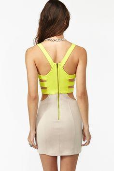 Colorblock corset dress // Nasty Gal (http://www.nastygal.com/whats-new/colorblock-corset-dress)