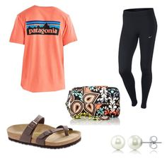 Preppy Day Off by hanna01grace on Polyvore featuring polyvore, fashion, style, NIKE, Birkenstock, Vera Bradley, BERRICLE, Patagonia and clothing