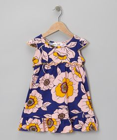 Decorated with beautiful blooms, this dainty dress will make any darling look absolutely adorable. Its stretchy cotton blend and relaxed cut ensure all-day comfort no matter the level of play.95% cotton / 5% spandexMachine wash; tumble dryMade in the USA