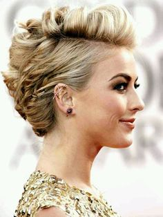 bridesmaid hair--short updo