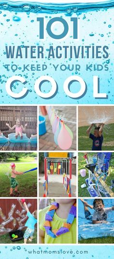 Outdoor Summer Activities For Kids | Fun things to do when it's hot outside including water games, DIY, crafts and sensory play. Great for toddlers, preschool children and tweens and teens too. Easy, inexpensive backyard ideas to stay cool. #kidsactivities #games