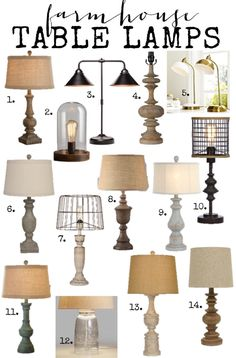 Country Table Lamps Living Room elements can add a contact of style and design to any home. Country Table Lamps Living Room can mean many things to many… Farmhouse Table Lamps, Modern Farmhouse Table, Rustic Lamps, Farmhouse Lighting, Industrial Farmhouse, Farmhouse Lamp Shades, Farmhouse Chic, Country Farmhouse, Country Lamps