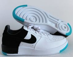 6d17d50fa67 NIKE AIR FORCE 1 ULTRAFORCE N7 WHITE-BLACK-DARK TURQUOISE SZ 8  873309-103