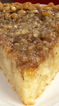 I'm allergic to pecans but this looks good! Pecan Pie Coffee Cake (desserts with nuts, breakfast recipes) Baking Recipes, Cake Recipes, Dessert Recipes, Pecan Recipes, Baking Desserts, Cake Baking, Food Cakes, Cupcake Cakes, Rose Cupcake