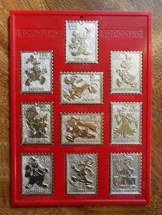 Anno 1973 i francobolli medaglie gadget di Topolino
